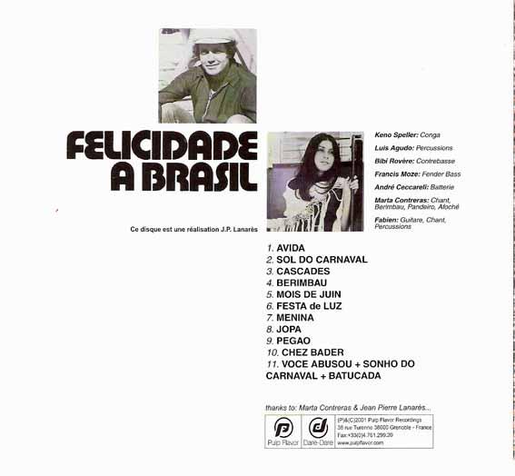 CD met Marta Contreras: Chant, Berimbau, Pandeiro, Afoché.